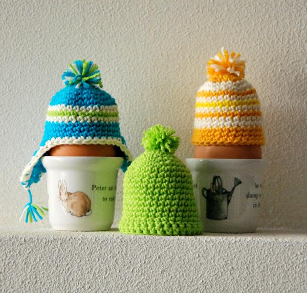 Marsha Valk | Gehaakte eiermutsjes // crochet egg cozies