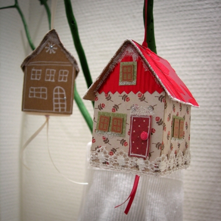 Marsha Valk   Kersthuisjes // PDF met werkbeschrijving