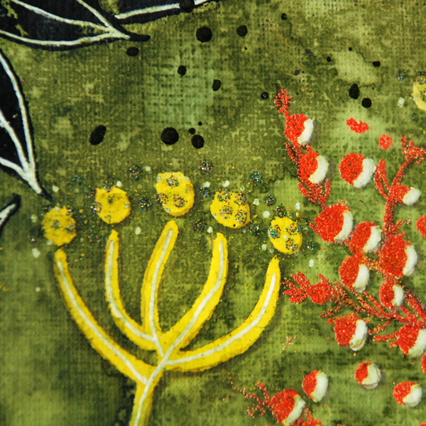 Marsha Valk | WOW! Embossing Powder // Mixed Media Nature Canvas