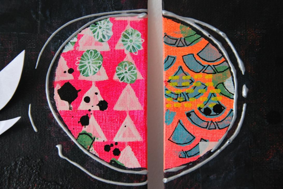 Marsha Valk | Inspired by: Kyoto // mixed media triptych