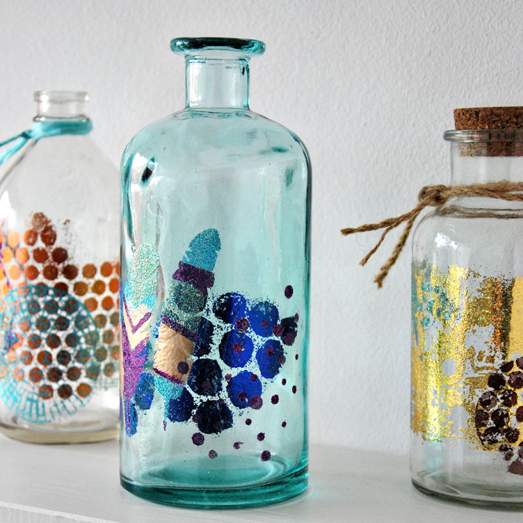 Marsha Valk | Scrap365 + WOW! // mixed media bottles