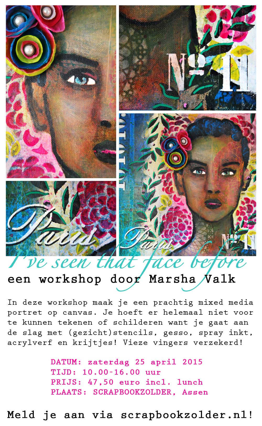 Workshop Marsha Valk @ Scrapbookzolder Assen