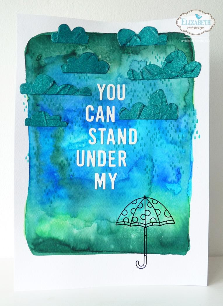 Marsha Valk | Elizabeth Craft Designs - Rainy Day Mixed Media Page