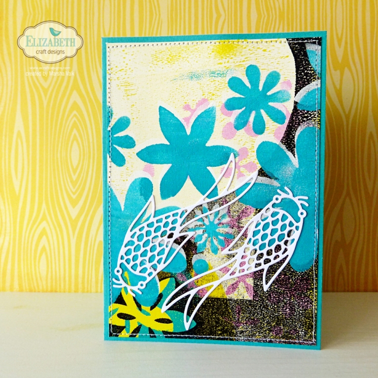 Marsha Valk | Elizabeth Craft Designs: Gelli Print Card
