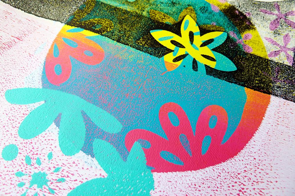 Marsha Valk   Elizabeth Craft Designs: Gelli Plate Print Detail