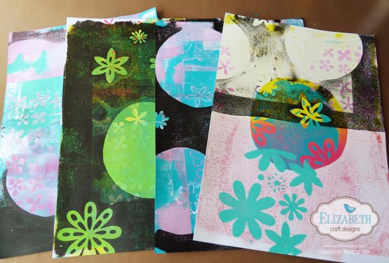 Marsha Valk | Elizabeth Craft Designs: Gelli Prints