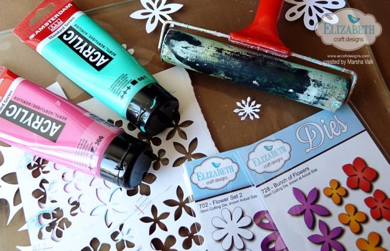 Marsha Valk | Elizabeth Craft Designs: Gelli Print Card Supplies