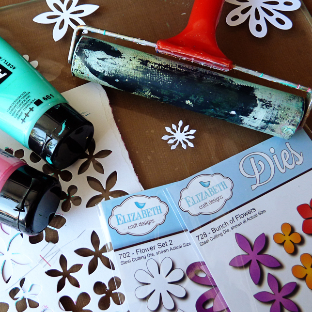 Marsha Valk | Elizabeth Craft Designs: Gelli Plate Printing with Embossing Folders