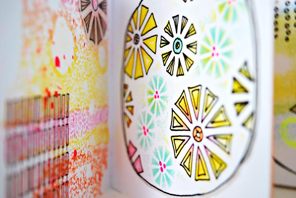 Marsha Valk   Scrapbookzolder: Workshop Letraset ProMarker + Neon Marker at Art Specially 2015