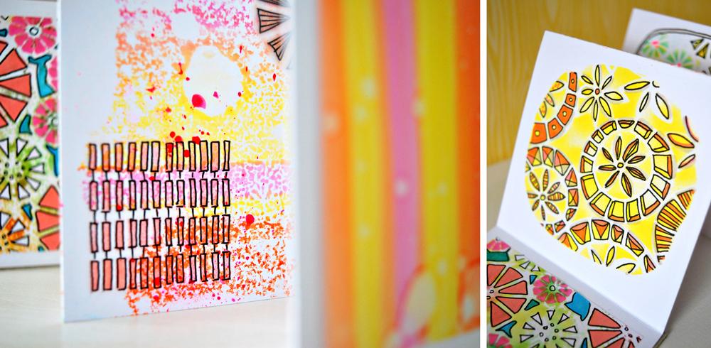 Marsha Valk   Scrapbookzolder: Art Specially Workshop Letraset ProMarkers + Neon Markers