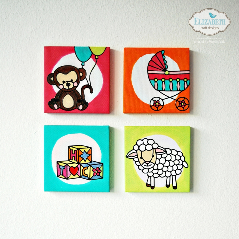 Marsha Valk | Elizabeth Craft Designs: Tiny Baby Peel-Off Sticker Canvases