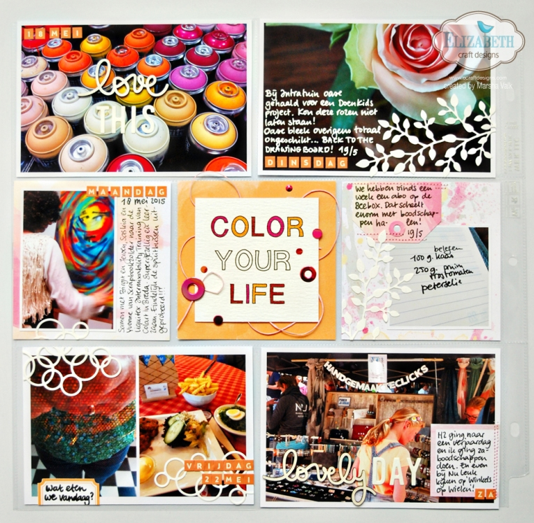 Marsha Valk | Elizabeth Craft Designs: Designer Challenge Project Life Spread using ECD Background Dies