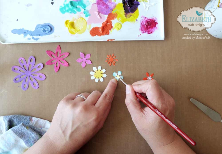 Marsha Valk | Elizabeth Craft Designs: Freshly Painted Flowers - Mixed Media Page
