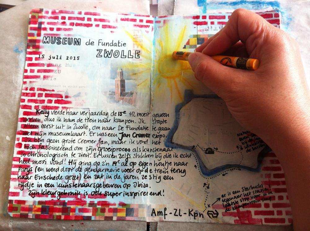 Marsha Valk | Art Journal Summer School: Lesson by Birgit Koopsen