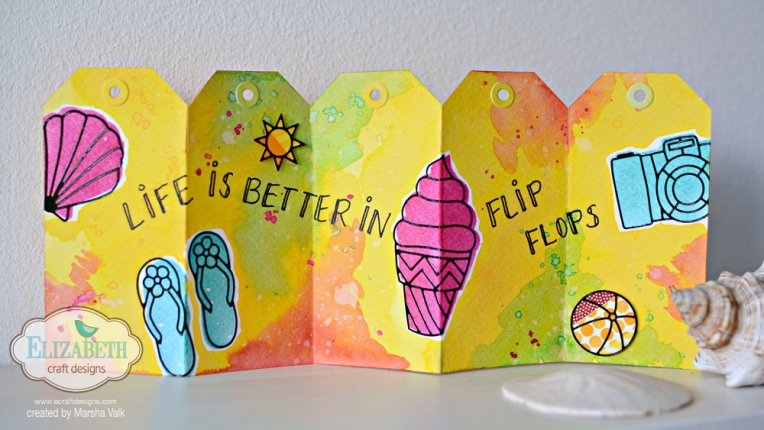 Marsha Valk | Elizabeth Craft Designs: Watercolour Fun with Dye Inks and Summer Peel-Off Stickers