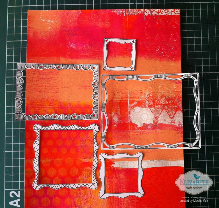 Marsha Valk | Elizabeth Craft Designs: Fitted Frames, Doodled - Scrapbook Page