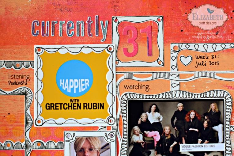 Marsha Valk | Elizabeth Craft Designs: Fitted Frames, Doodled - Scrapbook Page