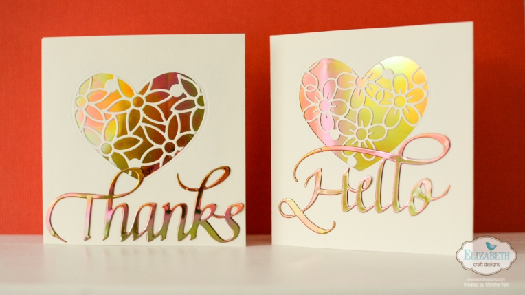 Marsha Valk | Elizabeth Craft Designs: Quick Clean & Simple Cards / Dies and Shimmer Sheetz