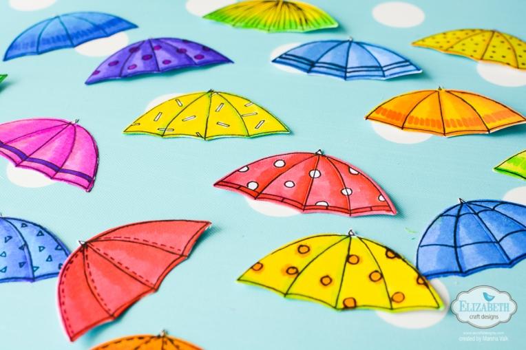 Marsha Valk | Elizabeth Craft Designs: Colouring on a Rainy Day Tag
