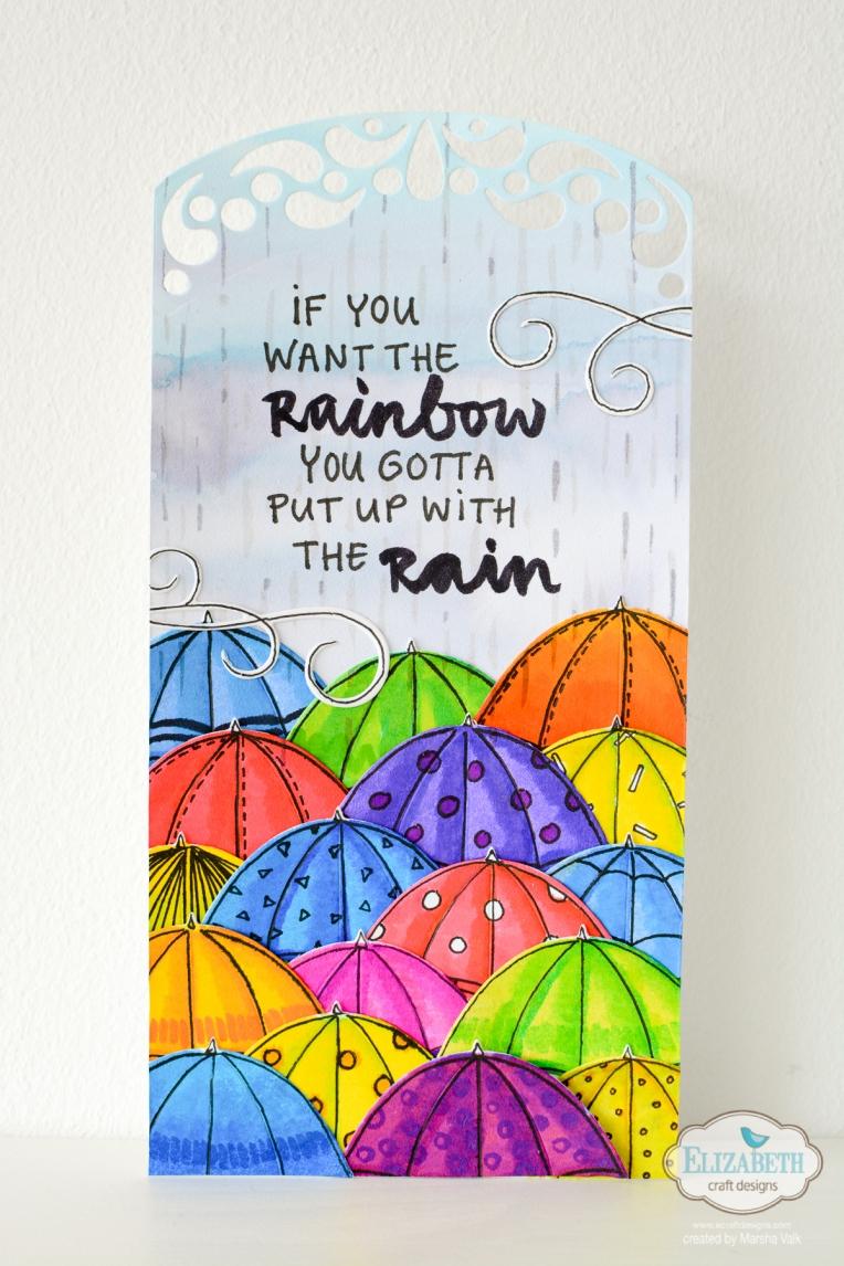 Marsha Valk | Elizabeth Craft Designs: Colour Your Own Rainy Day Tag