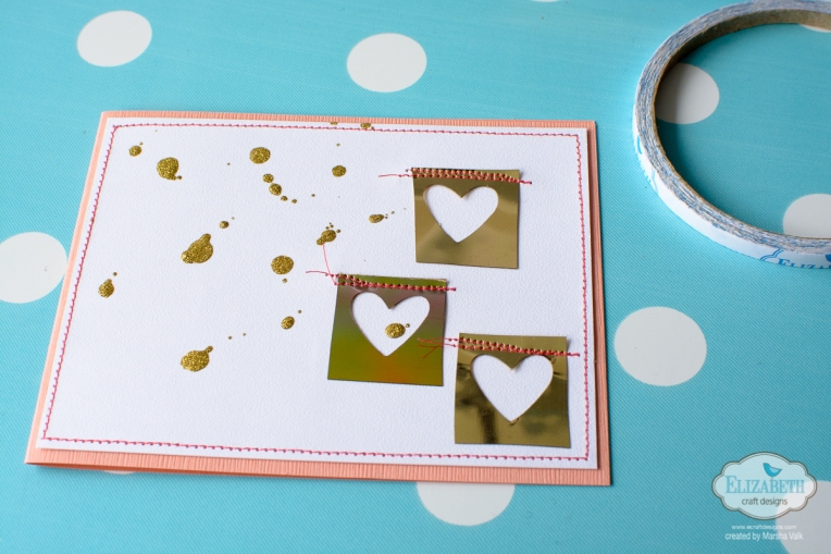 Marsha Valk | Elizabeth Craft Designs: Clean and Simple Card using Shimmer Sheetz Scraps
