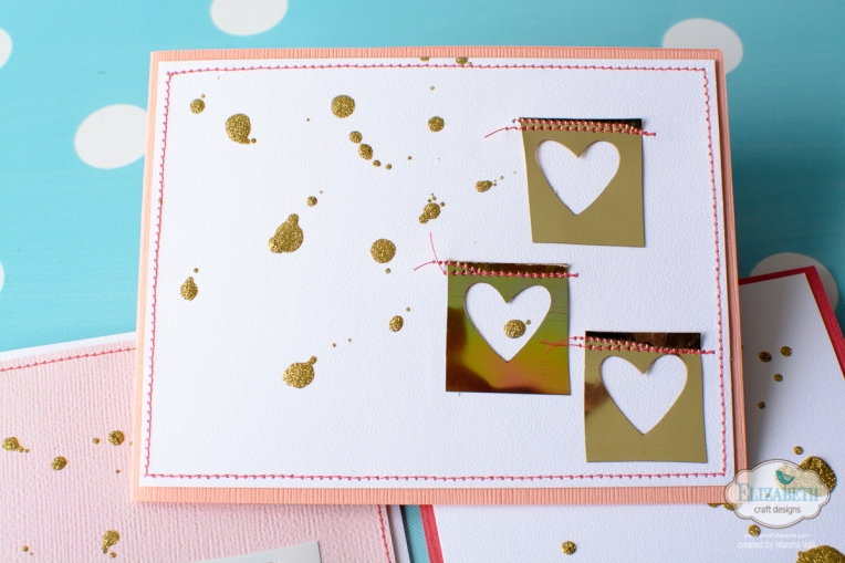 Elizabeth Craft Designs Clean And Simple Card Using Shimmer Sheetz