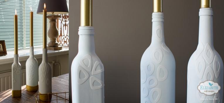 Marsha Valk | Elizabeth Craft Designs: White & Gold Candle Holders