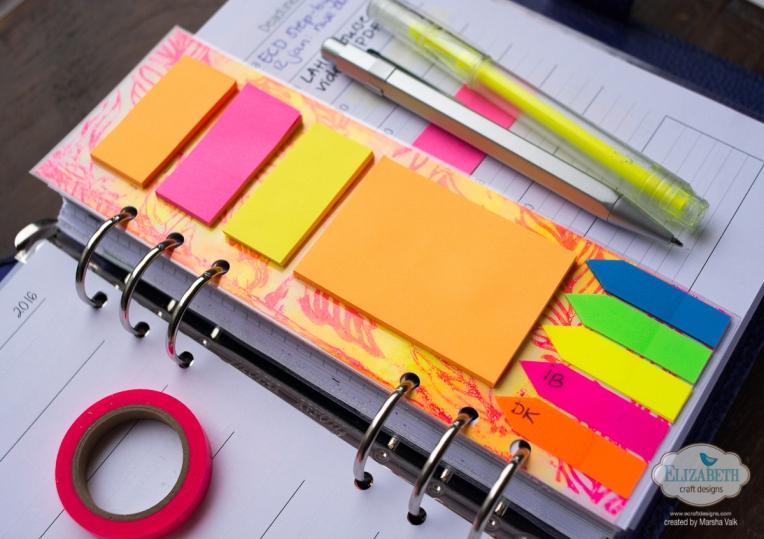Marsha Valk | Elizabeth Craft Designs: Monoprinted DIY Planner Dividers
