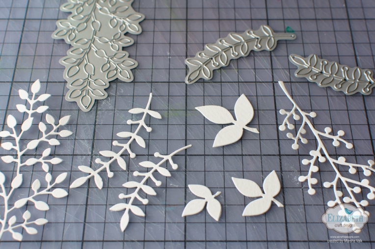 Marsha Valk | Elizabeth Craft Designs: Festive Leaves and Berry Branch Gift Tags