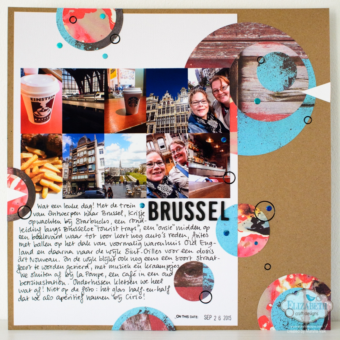 Marsha Valk | Elizabeth Craft Designs: Through the Lens // Scrapbook Page