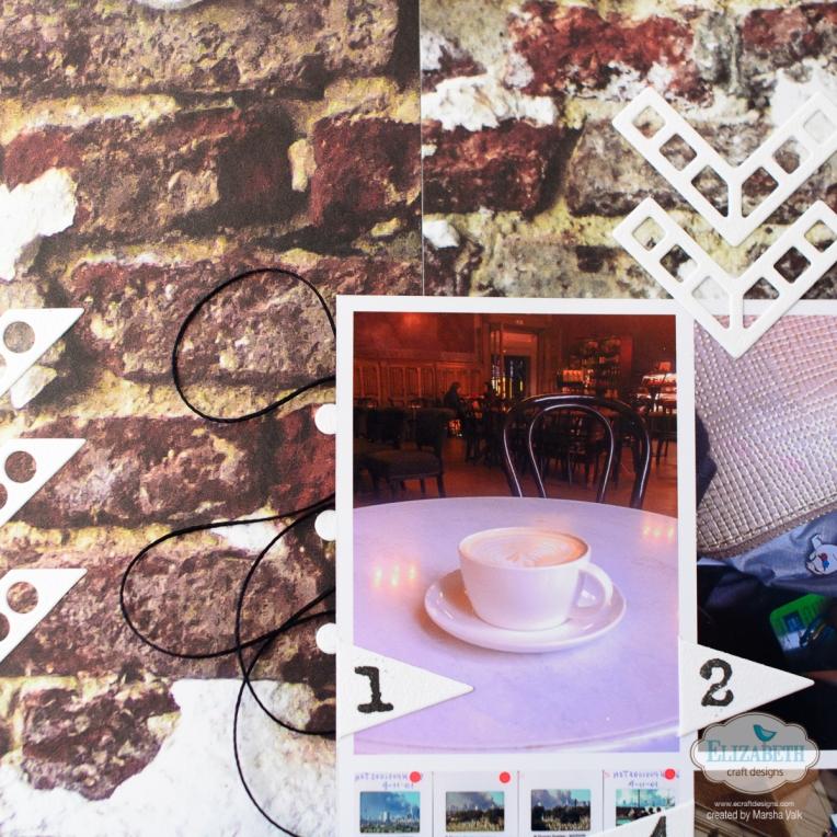 Marsha Valk | Elizabeth Craft Designs: One Day in Amsterdam // Scrapbook Page