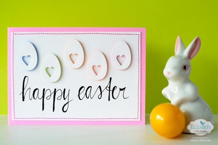 Marsha Valk | Elizabeth Craft Designs: Happy Easter Eggs Card