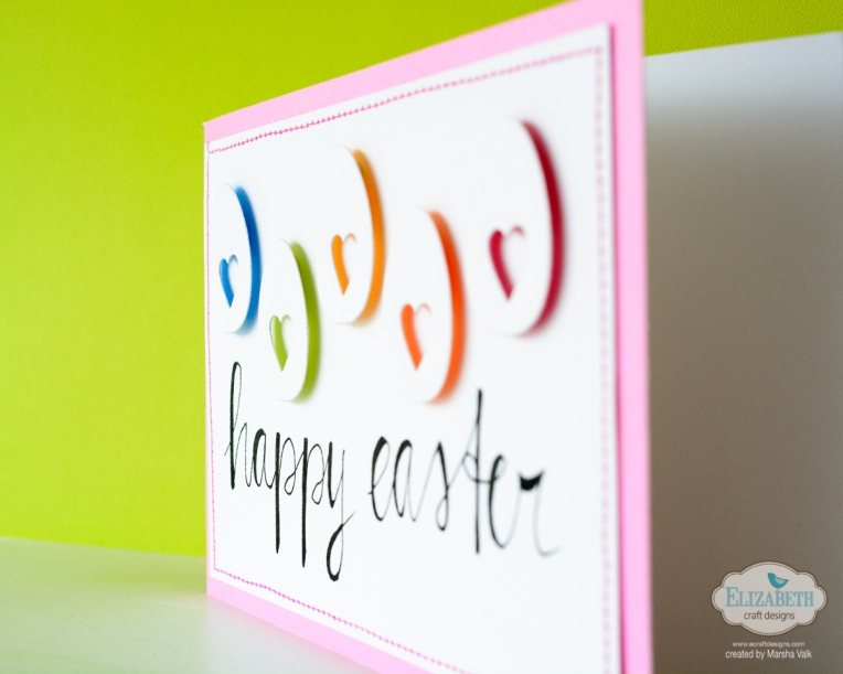 Marsha Valk | Elizabeth Craft Designs: Happy Easter Eggs Card