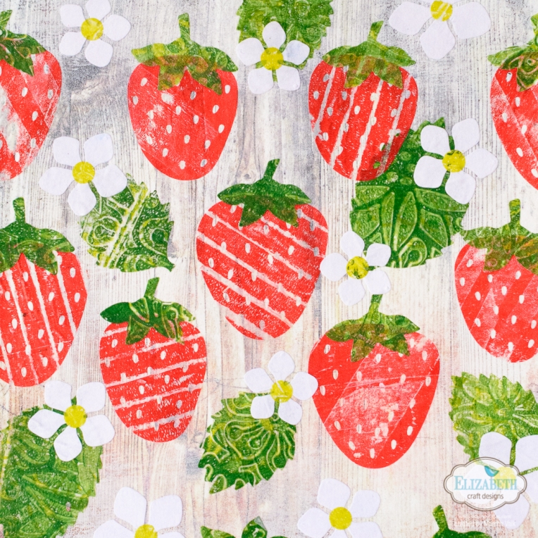 Marsha Valk | Elizabeth Craft Designs: Strawberries Collage
