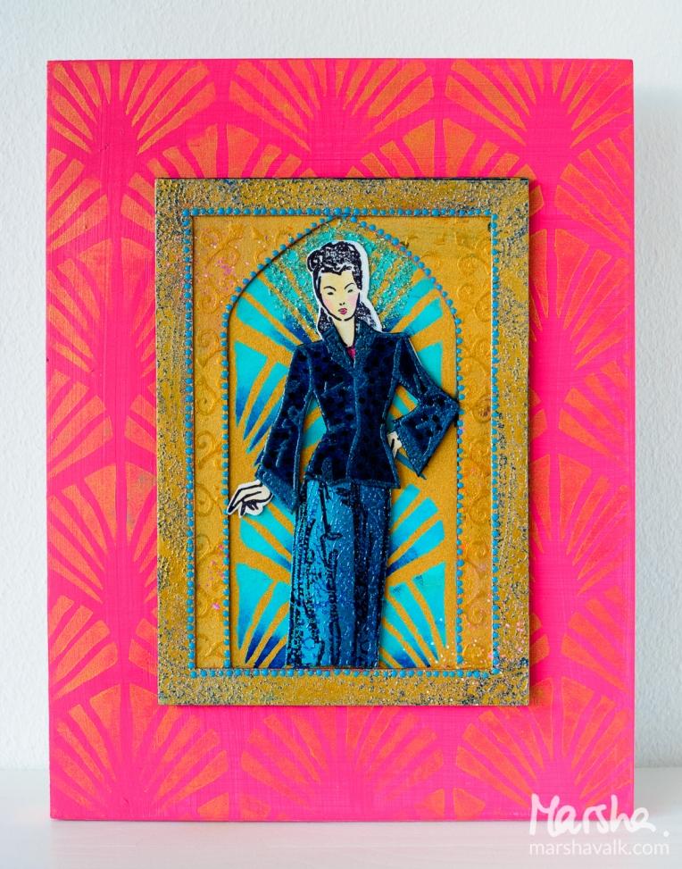 Marsha Valk | n*Studio Creative Squad: Stampendous Fashion Dame Hop