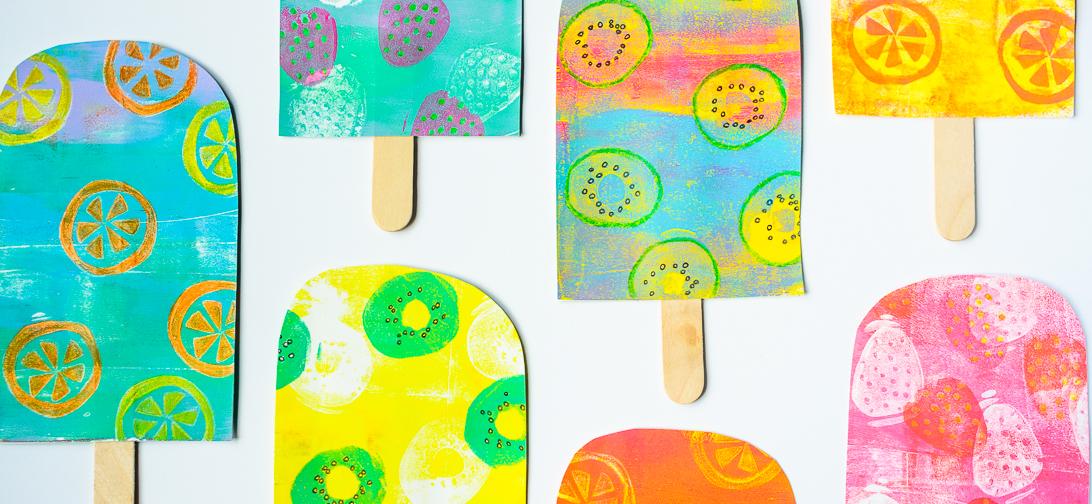 Marsha Valk | GelliArts: Gelli Printed Popsicle Mobile