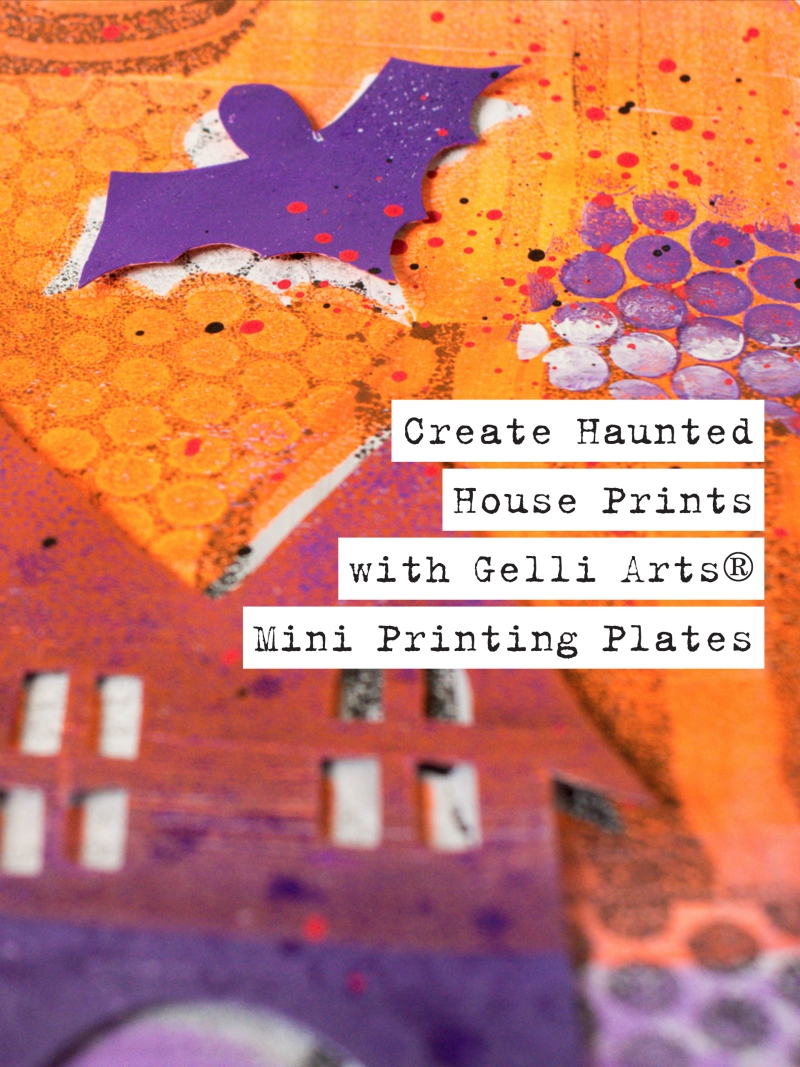Gelli Arts® Haunted House Prints
