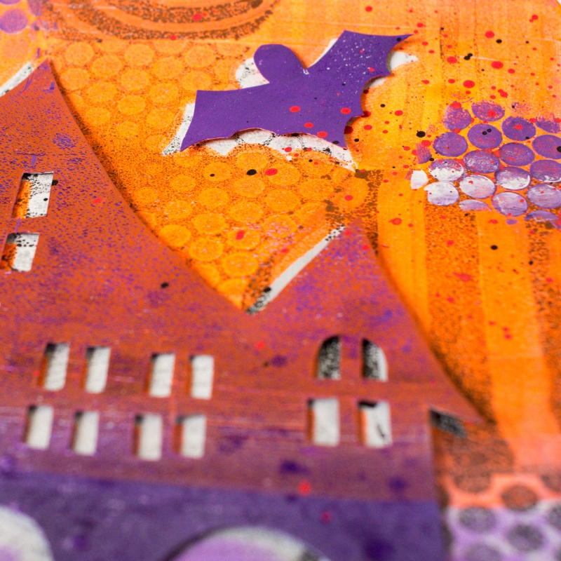 Marsha Valk | Gelli Arts®: Gelli® Printed Haunted Houses