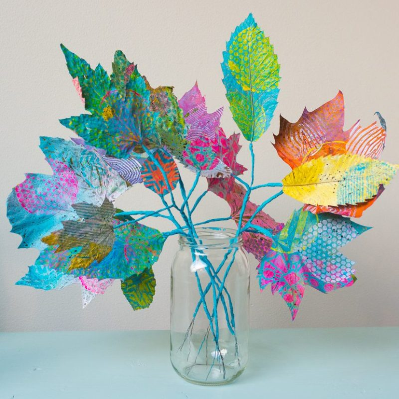 Marsha Valk | Gelli Arts®: Fall Bouquet