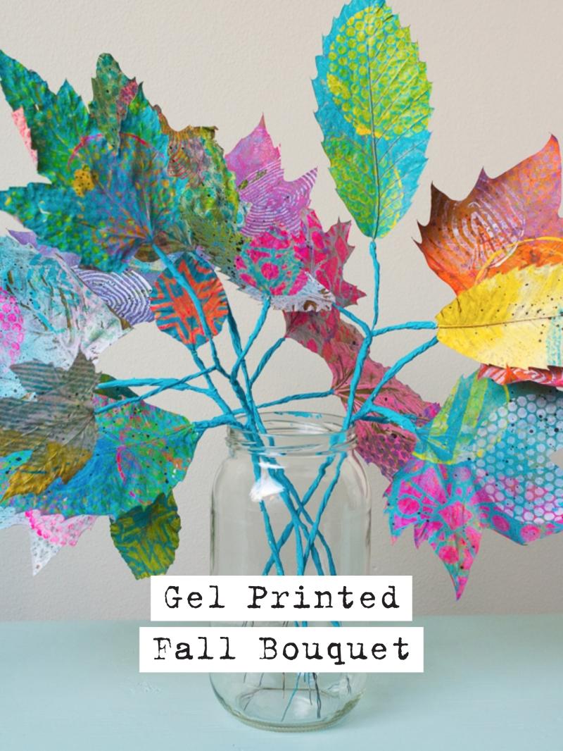 Gelli Arts® Gel Printed Fall Bouquet