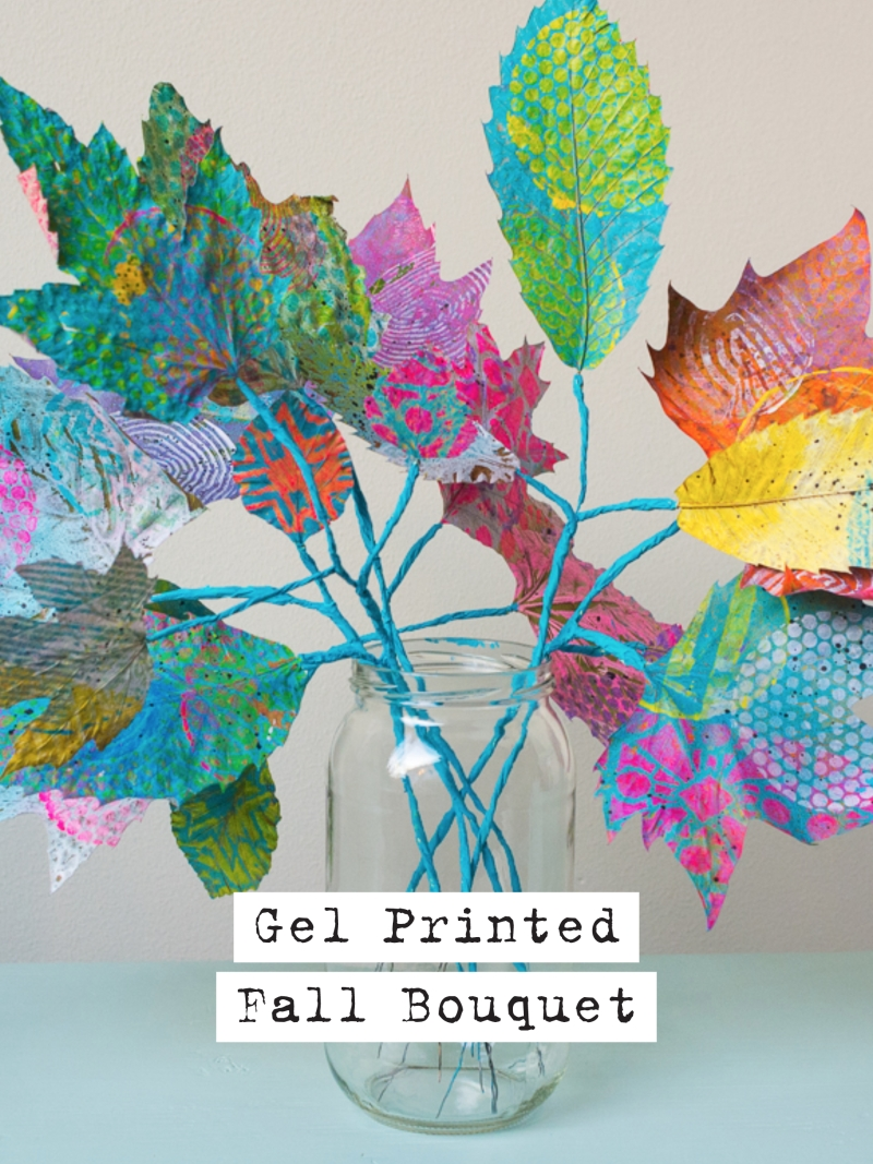 Gelli Arts® Gel Printed Fall Bouquet