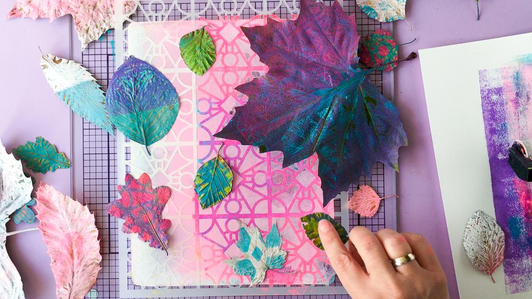Marsha Valk | Gelli Arts®: Fall Bouquet