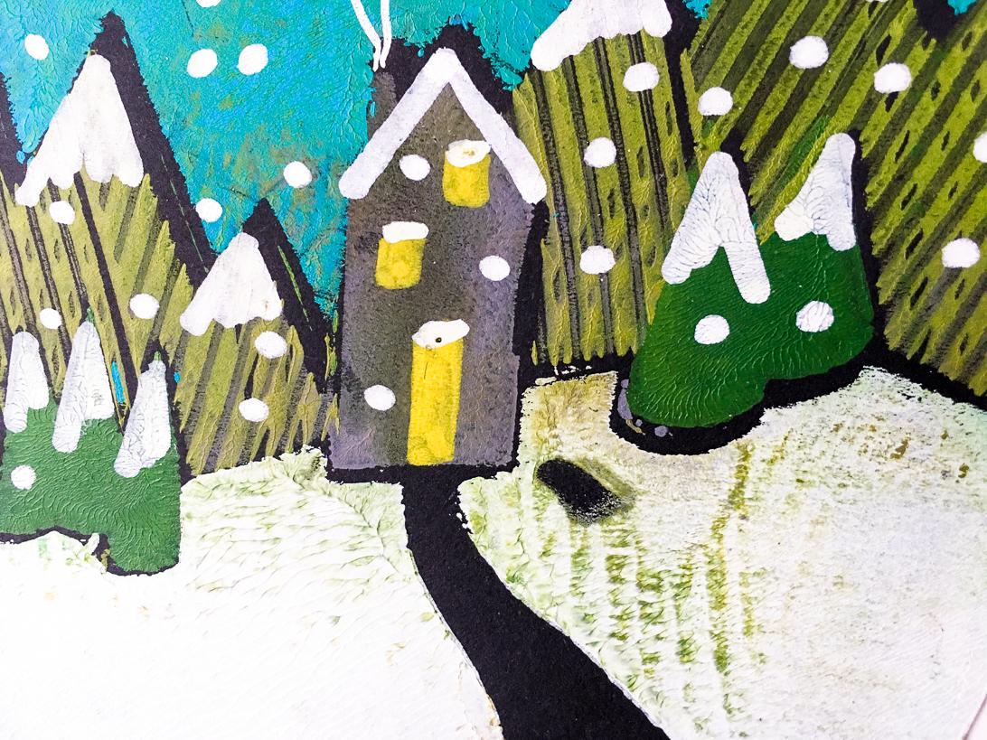 Marsha Valk   Gelli Arts®: Paper Snow Globe