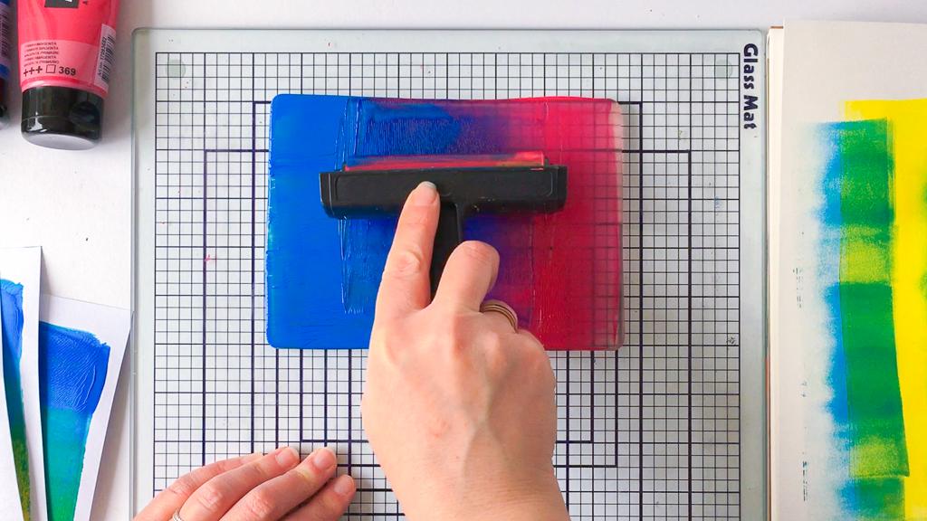 Marsha Valk | Gelli Arts®: Colour Mixing on the Gelli® Plate