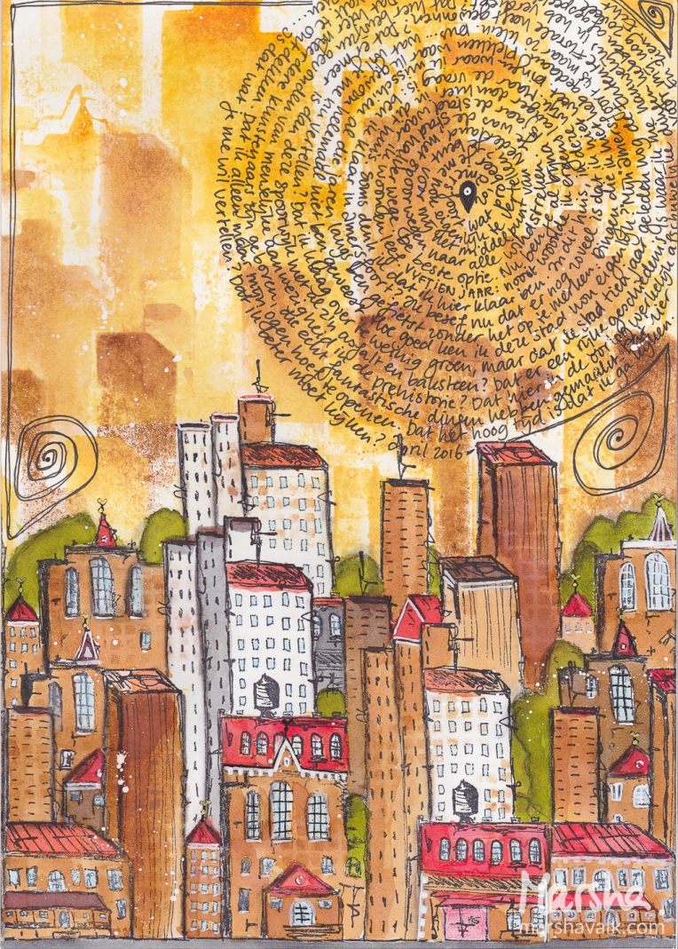 Marsha Valk | n*Studio: My City Speaks to Me \ art journal page