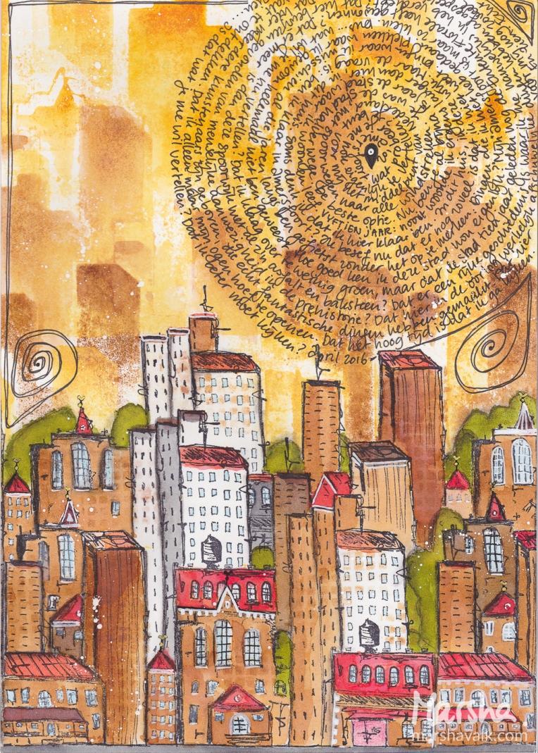 Marsha Valk | n*Studio: My City Speaks to Me \\ art journal page