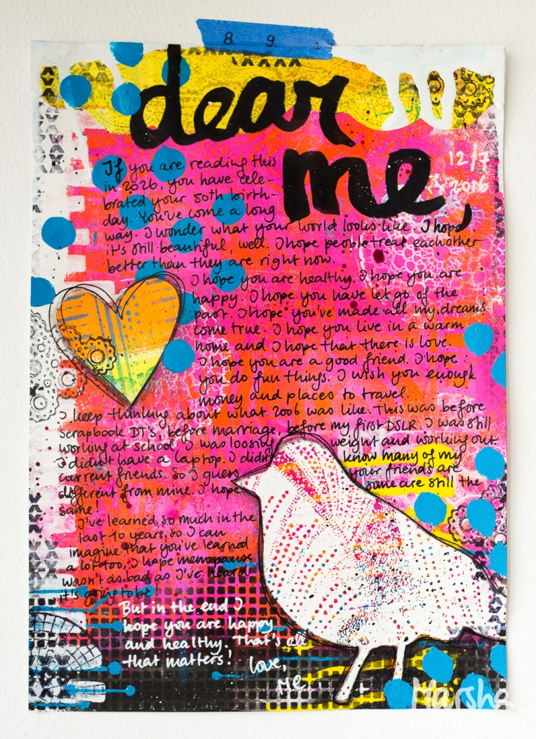 Marsha Valk | n*Studio: Letter to My Future Self \ Mixed media art journal page A4