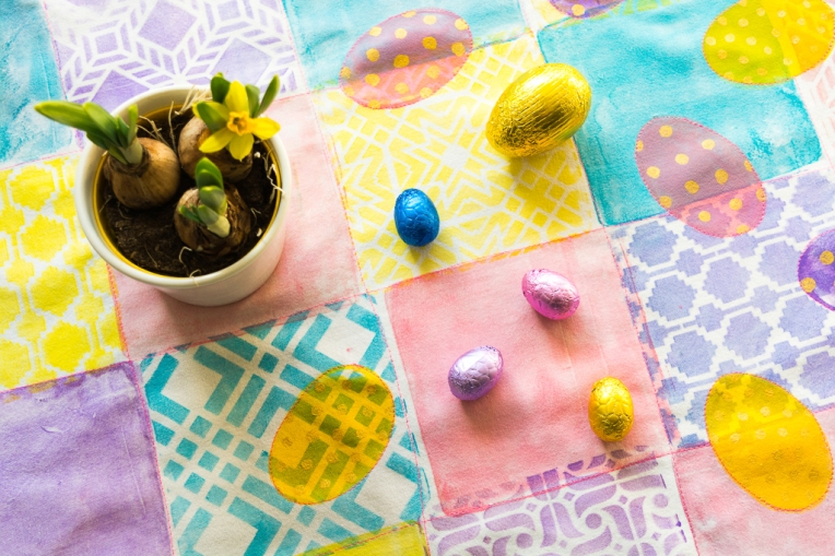 Marsha Valk | Gelli Arts®: Easter Table Runner