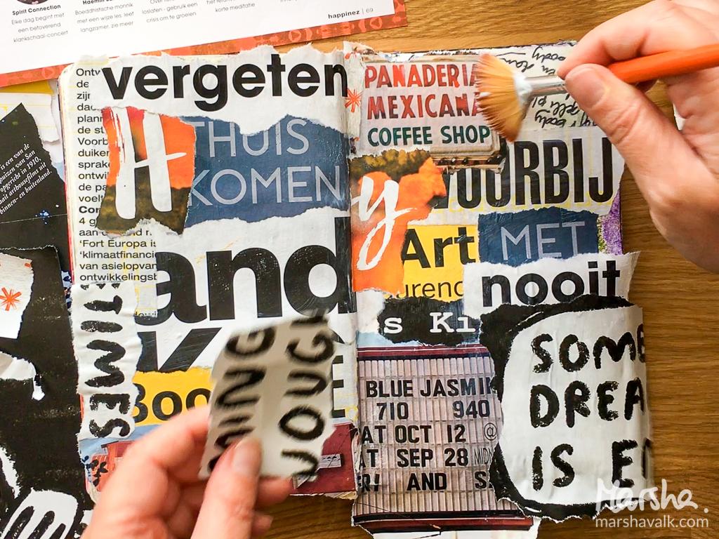 Marsha Valk | BMMAC: Alphabet Soup // art journal page