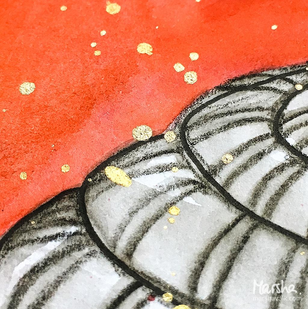 Marsha Valk   Inspired by: Stenen Matras // art journal page